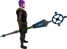 Ancient staff (blue) equipped
