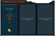 Avatar recall interface
