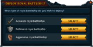 Deploy royal battleship interface
