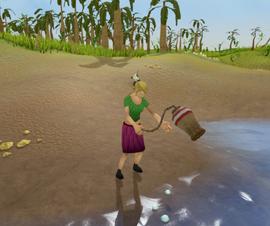 Fishing karambwan