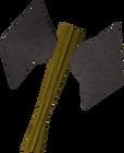 Iron thrownaxe detail old