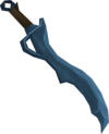 Off-hand rune scimitar detail