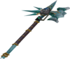Augmented attuned crystal halberd detail