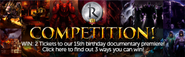 15th Anniversary Competition lobby banner