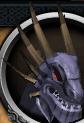 Dragão Negro Rei cabeça