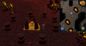 Emote clue Cheer TzHaar City sulphur pit