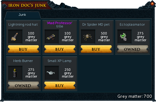 Iron Doc's Junk interface