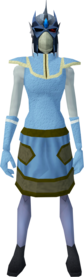 Reinforced slayer helmet (ef) (blue) equipped