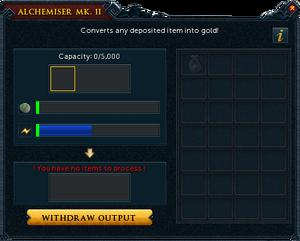 Alchemiser mk. II interface