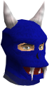 Blue hallowe'en mask chathead