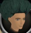 Dark green afro chathead