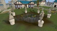 Falador park statues
