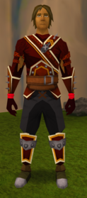 Fire runecrafting gloves equipped