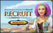 Recruit a Friend to Beach popup
