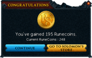 Redeemed a bond for RuneCoins