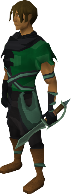 Adamant defender equipped
