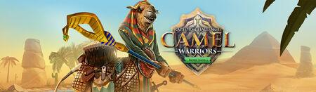 Camel warriors head banner
