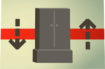 Teak wardrobe (flatpack) detail