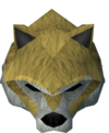 Werewolf mask (gold, female) detail