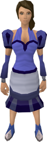 Blue elegant clothing equipped (female)