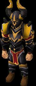 Elite black armour equipped