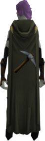 Hooded mining cape equipped