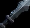 Off-hand iron ceremonial sword III detail