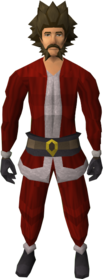 Santa costume (male) equipped