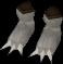 Werewolf paws (white, female) detail