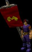 Banner (Zamorak) equipped