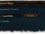 Character name