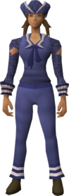 Naval set (blue) equipped