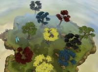 Resource race woodcutting island