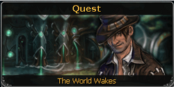 The World Wakes noticeboard