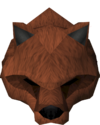 Werewolf mask (red, male) detail
