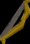 Arco curto de carvalho detalhe