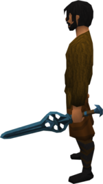 Off-hand rune longsword equipped
