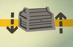 Teak treasure chest (flatpack) detail