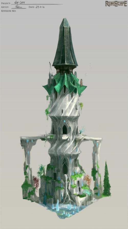 Elf City - Tower of Voices concept art