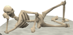 Estátua Esqueleto