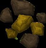 Minério de ouro detalhe