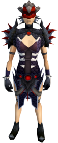 Royal dragonhide armour (female) equipped