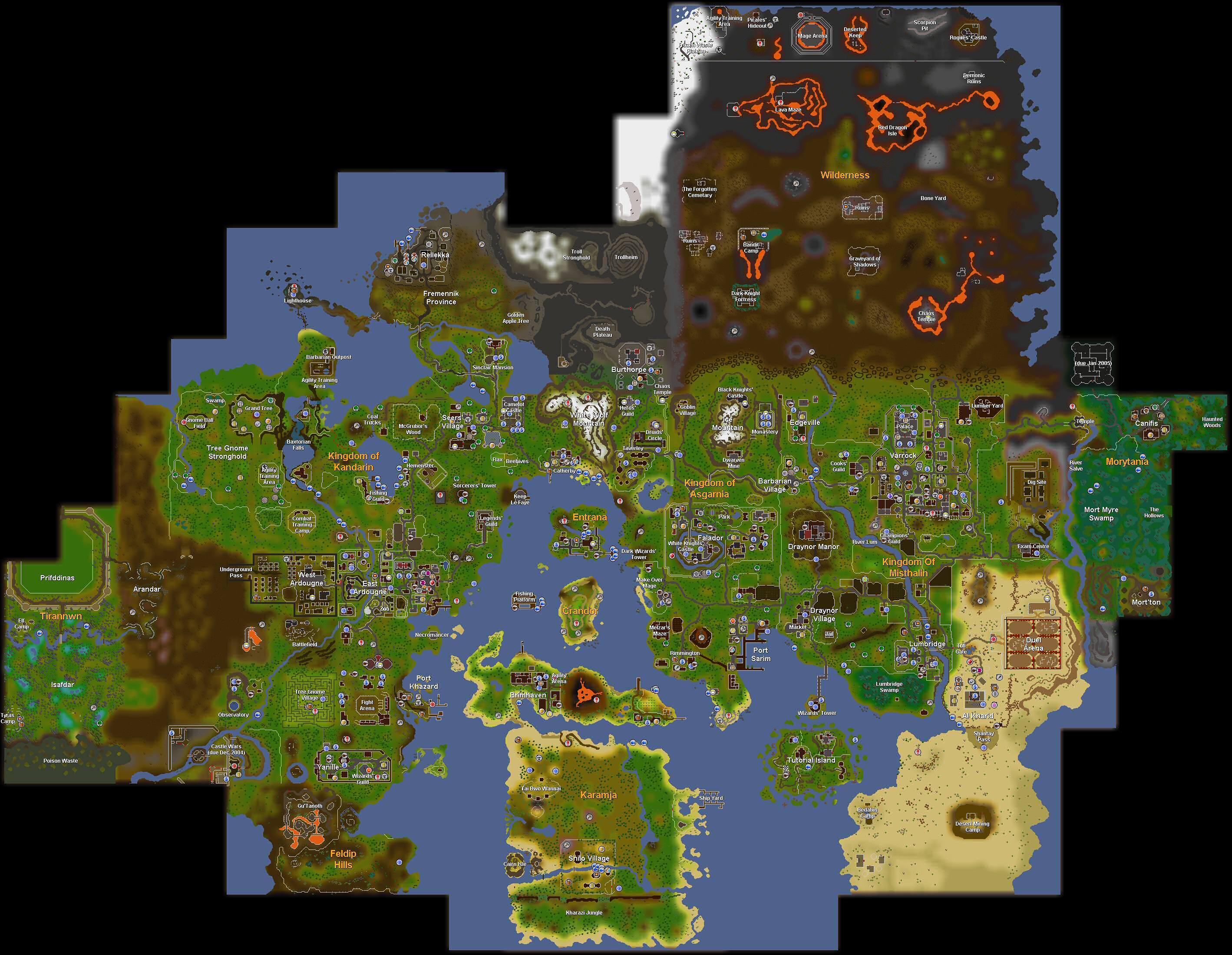 Rs 2007 Map World map/History | RuneScape Wiki | FANDOM powered by Wikia
