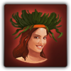 Tropical headdress icon (female)