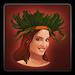 Tropical headdress icon (female)