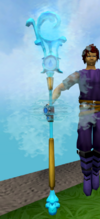 Augmented staff of limitless water detail