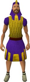 Menaphite clothing (purple, action kilt) equipped