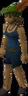 Robin hood hat worn old