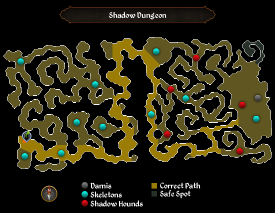 Shadow Dungeon map