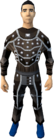 Studded leather armour (t) (male) equipped